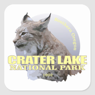 Crater Lake NP (Lynx) WT Square Sticker