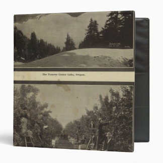 Crater Lake Oregon Orchard scene Vinyl Binder