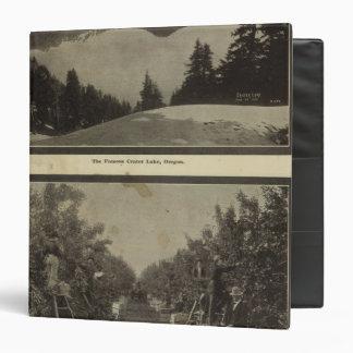 Crater Lake Oregon Orchard scene Vinyl Binder