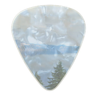Crater Lake Oregon Pearl Celluloid Guitar Pick