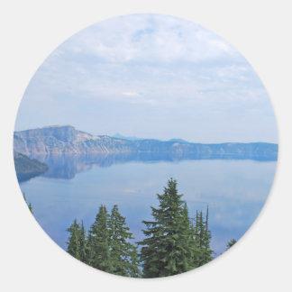 Crater Lake Oregon Round Sticker