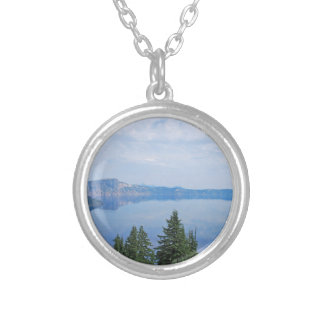 Crater Lake Oregon Silver Plated Necklace