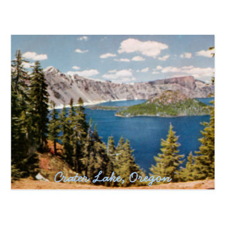 Crater Lake Oregon Vintage Postcard