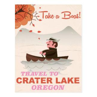 Crater Lake Oregon Vintage travel poster Postcard