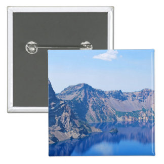 Crater Lake Phantom Ship 2 Inch Square Button