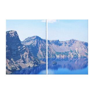 Crater Lake Phantom Ship Canvas Print