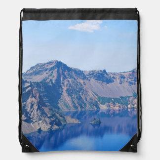 Crater Lake Phantom Ship Drawstring Bag