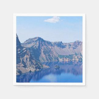Crater Lake Phantom Ship Paper Napkin
