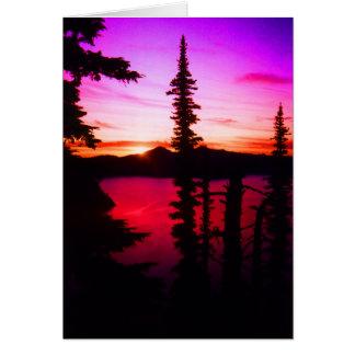 Crater Lake Sunset Card