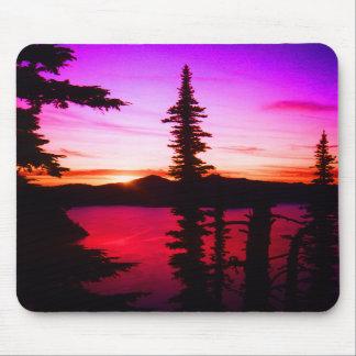 Crater Lake Sunset Mousepad