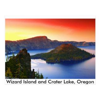 Crater Lake Sunset Postcard