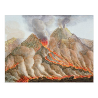 Crater of Mount Vesuvius from an original drawing Postcard