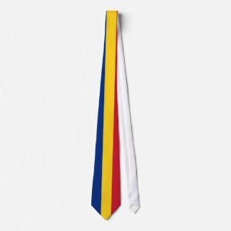 Cravate avec le drapeau de la Roumanie