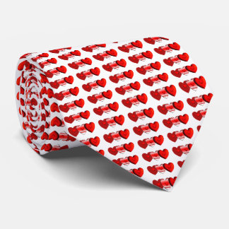 Cravate Coeurs avec le dos