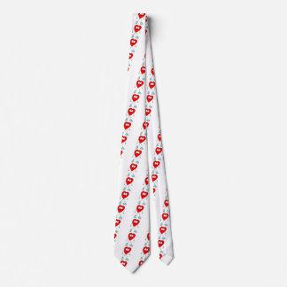 Cravate Coeurs mignons de caractère de coeur de Valentine