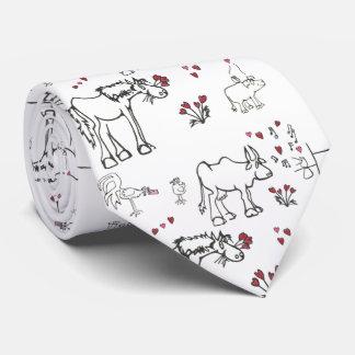 Cravate d'animaux de Valentine