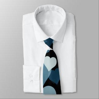 Cravate de coeurs de Valentine de marine