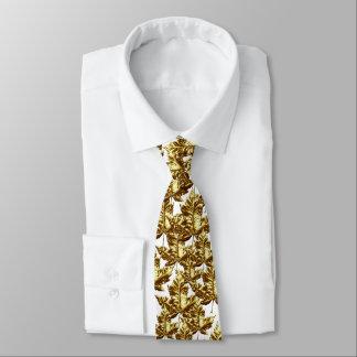 Cravate de feuille d'érable du Canada d'or