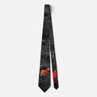 Cravate de jour de Valentines VOTRE noir NOMMÉ de