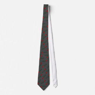cravate dispersée de Valentine de roses