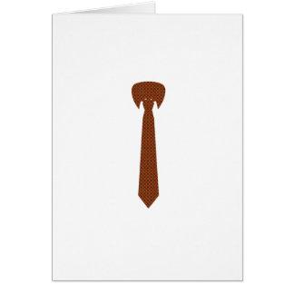 Cravate élégante carte de vœux