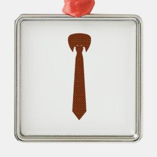 Cravate élégante ornement carré argenté
