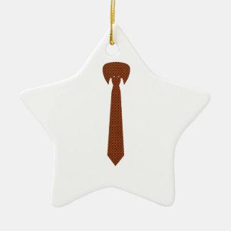 Cravate élégante ornement étoile en céramique
