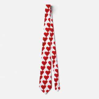 Cravate Message de coeur de heureuse Sainte-Valentin