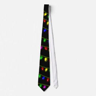 Cravate rougeoyante lunatique de lumières de Noël