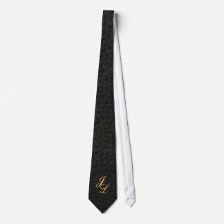 Cravate simili cuir noire d'obtention du diplôme d