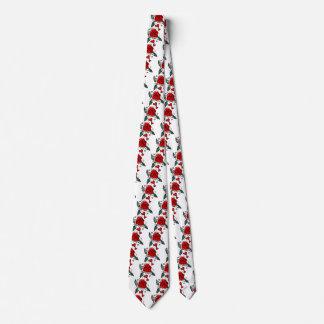 Cravate Valentine rouge s'est levé