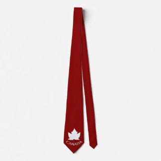 Cravates de feuille d'érable du Canada d'amusement