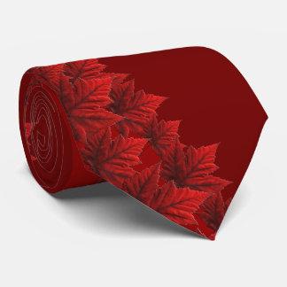 Cravates du Canada de feuille d'érable rouge de