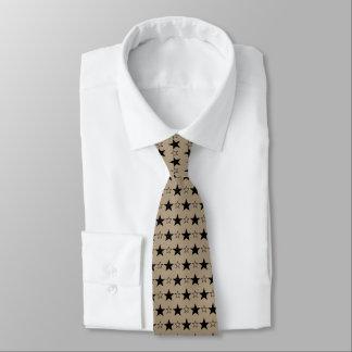 Cravates élégantes de cravate d'étoiles de Taupe