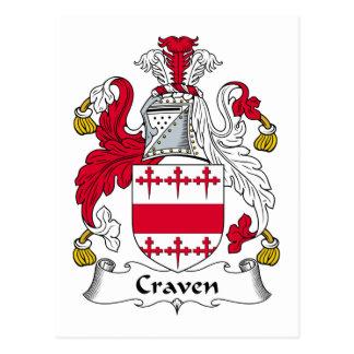 Craven Family Crest Postcard