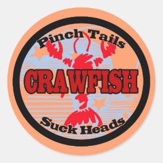 Craw Dat!  Fleur de Lis, Crawfish , Craw Dat Classic Round Sticker