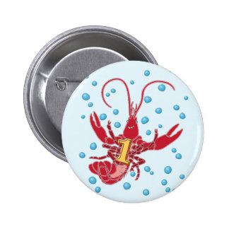 Crawfish 1 With Bubbles Pin