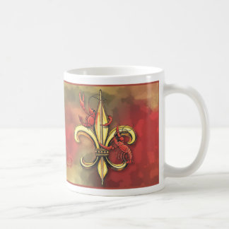 Crawfish and Fleur-de-lis Mug