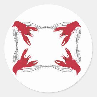 Crawfish Base Classic Round Sticker