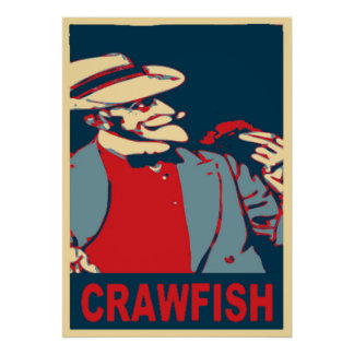 Crawfish Bearded Man Poster
