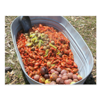 Crawfish boil. postcard