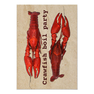 crawfish boil summer party invitation template