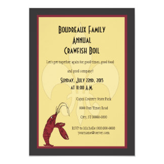 Crawfish Boil With Fleur de Lis Invitations