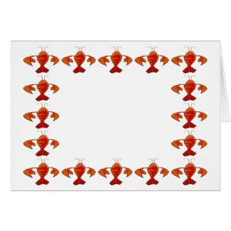 Crawfish Border Templet Card