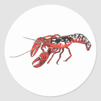 crawfish classic round sticker