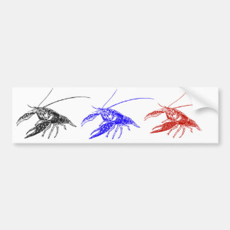 crawfish (crayfish) bumper sticker