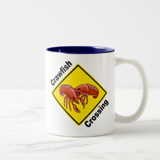 Crawfish Crossing Two-Tone Coffee Mug