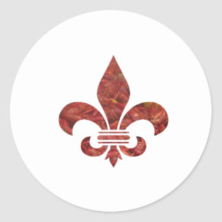 Crawfish Fleu de Lis Classic Round Sticker
