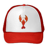 Crawfish Fleur De Lis Hat Casquettes De Camionneur
