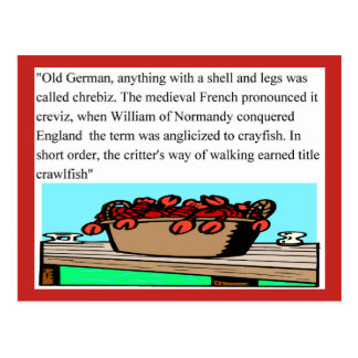 Crawfish History, Postcard